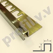 Латунный профиль закладной V.V.A-L-KV10x8 PRO c квадратным сечением