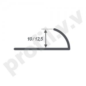 Латунный хромированный профиль V.V.A-LX-N10/12,5 для плитки внешний