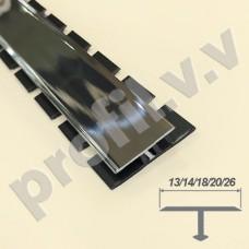 Латунный хромированный профиль V.V.A-LX-TG10/13/15/18/20/26 ECO Т-образный