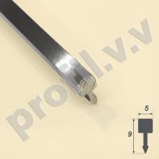 Латунный хромированный профиль V.V.A-LX-LG5 ECO декоративный