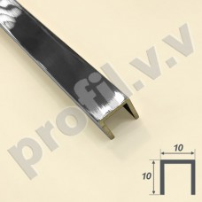 Латунный хромированный профиль П-образный V.V.A-LX-P10 ECO для плитки и керамогранита