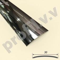 Порог (стык) из хромированной латуни V.V.A-LX-R30 гладкий