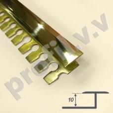 Латунный профиль закладной V.V.A-L-DG10 полированный