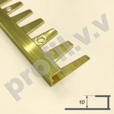 Латунный профиль П-образный V.V.A-L-L10 ECO гнущийся