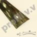 Латунный порог (стык) гладкий  V.V.A-L-R30 ECO