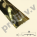 Латунный порог (стык) гладкий  V.V.A-L-R30S ECO