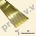 Латунный порог (стык) с рифлением  V.V.A-L-R40PL ECO