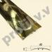 Латунный порог (стык) гладкий  V.V.A-L-R40S ECO