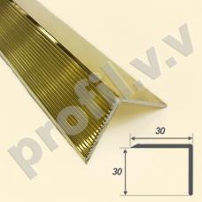 Латунный порог (угол) V.V.A-L-UN30x30 для ступеней