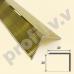 Латунный угловой порог V.V.A-L-UN30x30  ECO для ступеней