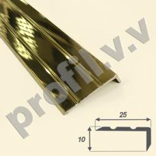 Латунный порог (угол) V.V.A-L-UN10x25 для ступеней