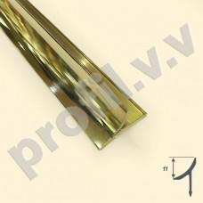 Латунный профиль закладной V.V.A-L-V10 ECO полированный