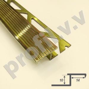 Латунный профиль V.V.A-L-APZ10 для ступеней