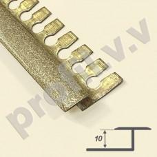Латунный профиль закладной V.V.A-L-DG10 премиум