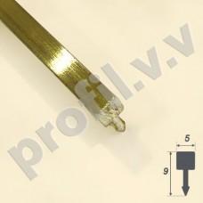 Латунный декоративный профиль V.V.A-L-LG5 ECO разделительный