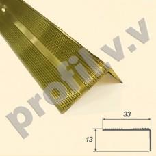 Латунный порог (угол) V.V.A-L-UN33x13 для ступеней