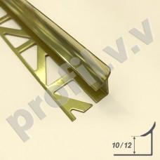 Латунный внутренний угол V.V.A-L-VZ10 ECO закладной, округлый