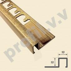 Латунный профиль закладной V.V.A-L-KV10x10 квадратный Tessuro