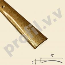 Латунный порог 3D полукруглый V.V.A-L-R17 Tessuro