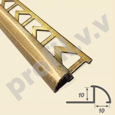 Латунный профиль 3D для плитки V.V.A-L-OAP10 Tessuro
