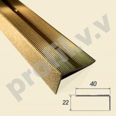 Латунный порог 3D (угол) V.V.A-L-UN40x22 для ступеней Tessuro