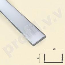 Профиль светодиодный V.V.S-PN12x25 накладной