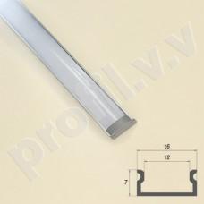 Профиль светодиодный V.V.S-PN7x16 алюминиевый накладной