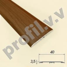 Порог алюминиевый (стык) со скрытым креплением V.V.A-R40PLSL ламинированный