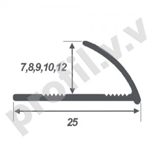ПВХ профиль для плитки V.V.A-NPL7/8/9/10/12 мраморные цвета