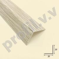 Угловой ПВХ профиль для плитки V.V.A-UNP20x20 цветной