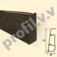 Плинтус ПВХ V.V.A-ARB70 3D матовый 70 мм