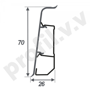 Плинтус ПВХ V.V.A-ARB70 3D матовый с кабель-каналом 70 мм
