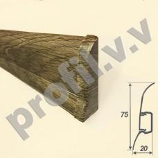 Плинтус ПВХ V.V.A-LDR75 3D матовый с кабель-каналом  75 мм