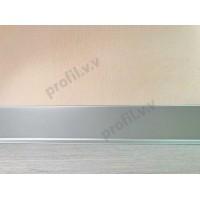 Плинтус алюминиевый V.V.R-PLA напольный, 60/80 мм