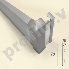 Плинтус алюминиевый V.V.A-PLA70KK напольный с кабель-каналом