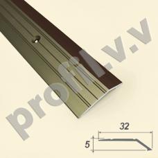 Порог алюминиевый (кант ) V.V.R-R32P /V.V.A-R32P с перепадом