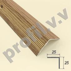 Порог алюминиевый V.V.R-UN25x25 угловой