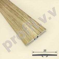Порог алюминиевый (стык) плоский  со скрытым креплением, V.V.R-R35