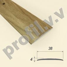 Порог (стык) алюминиевый V.V.R-R38 /V.V.A-R38 для пола