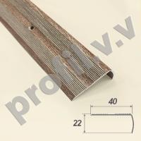 Порог (угол) алюминиевый V.V.R-UN40x22