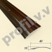Порог алюминиевый (кант ) полукруглый V.V.R-R40P /V.V.A-R40P с перепадом
