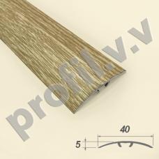 Порог алюминиевый (стык)  со скрытым креплением V.V.R-R40S /V.V.A-R40S