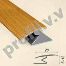 Порог алюминиевый - стык Z-образный  V.V.R-R28Z