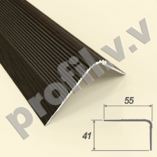 Порог алюминиевый V.V.R-UN55x41 угловой для ступеней