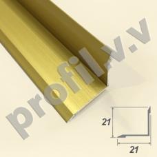 Алюминиевый порог V.V.A-UV21x21 угловой внутренний