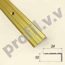 Алюминиевый порог угловой V.V.A-UN24x10 /V.V.R-UN24x10