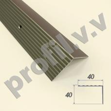 Алюминиевый порог угловой V.V.A-UN40x40