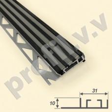 Алюминиевый профиль противоскользящий V.V.A-APSR10x31