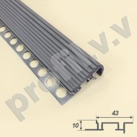 Алюминиевый профиль противоскользящий V.V.A-APSR10x43