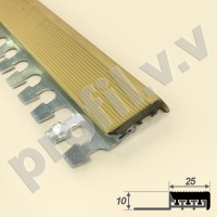 Алюминиевый профиль противоскользящий V.V.A-APSRG10x25